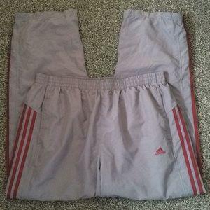 Adidas Mens Grey Workout Pants
